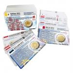 Set - alle Münzkarten (ohne Münze) ab 2004 für 2-Euro Gedenkmünzen