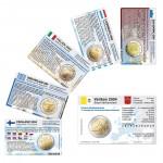 6 Münzkarten ohne Münze (6 Länder) von 2004 für 2-Euro Gedenkmünzen