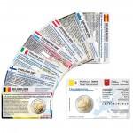 8 Münzkarten ohne Münze (8 Länder) von 2005 für 2-Euro Gedenkmünzen