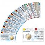 11 Münzkarten ohne Münze (7 Länder) von 2006 für 2-Euro Gedenkmünzen