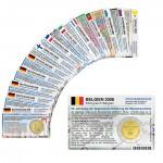 14 Münzkarten ohne Münze (10 Länder) von 2008 für 2-Euro Gedenkmünzen