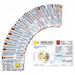 16 Münzkarten (12 Länder ohne Münze) von 2010 für 2-Euro Gedenkmünzen
