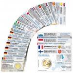 20 Münzkarten (16 Länder ohne Münze) von 2011 für 2-Euro Gedenkmünzen