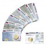 Set - alle Münzkarten (ohne Münze) Slowenien für 2-Euro Gedenkmünzen