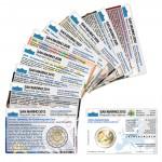 Set - alle Münzkarten (ohne Münze) San Marino für 2-Euro Gedenkmünzen
