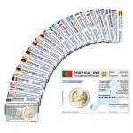 Set - alle Münzkarten (ohne Münze) für 2-Euro Gemeinschaftsmünzen Römische Verträge 2007