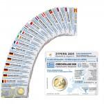 20 Münzkarten (16 Länder ohne Münze) für 2-Euro Gemeinschaftsmünzen WWU 2009