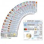 37 Münzkarten (16 Länder ohne Münze) für 2-Euro Gemeinschaftsmünzen RV 2007 und WWU 2009