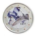 Farbige 2 Euro Sondermünze Finnland 2011 - 200 Jahre Finnische Nationalbank pfr.