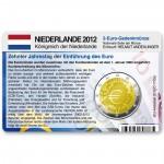 Münzkarte (ohne Münze) für 2-Euro Gemeinschaftsmünze Niederlande 2012