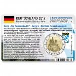 Münzkarte für 2-Euro Gedenkmünze Deutschland A 2012