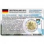 Münzkarte (ohne Münze) für 2-Euro Gedenkmünze Deutschland F 2012