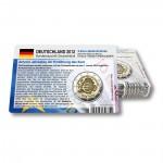 Set - alle Münzkarten (ohne Münze) von 2012 für 2-Euro Gedenkmünzen