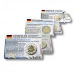 58 Münzkarten (17 Länder ohne Münze) für 2-Euro Gemeinschaftsmünzen 2007, 2009 und 2012