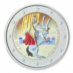 Farbige 2 Euro Sondermünze Vatikan 2008 - Paulusjahr ST