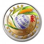 Farbige 2 Euro Gedenkmünze Italien 2004 - World Food Programme pfr.