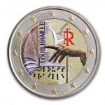 Farbige 2 Euro Sondermünze Italien 2009 - Louis Braille pfr.