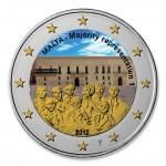 Farbige 2 Euro Gedenkm�nze Malta 2012 - Mehrheitswahlrecht 1887 pfr.
