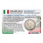 Münzkarte (ohne Münze) für 2-Euro Gedenkmünze Italien 2012