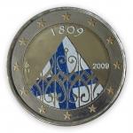 Farbige 2 Euro Gedenkmünze Finnland 2009 - 200 Jahre Autonomie pfr.