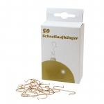 Schnellaufhänger gold für Weihnachtskugeln Pack á 50 Stück