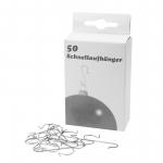 Schnellaufhänger silber für Weihnachtskugeln Pack á 50 Stück