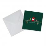 """Geschenkkarte mit Umschlag """"Frohe Weihnachten"""" Weihnachtsmann"""