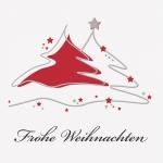 """Geschenkkarte """"Frohe Weihnachten"""" Tannenbaum"""