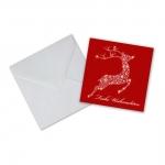 """Geschenkkarte mit Umschlag """"Frohe Weihnachten"""" Rentier"""