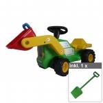 """Babyrutscher """"Traktor"""" grün mit Frontschaufel inkl. Kinderspaten"""