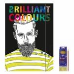 """Zeichenmappe """"Brilliant Colours"""" für DIN A3 inkl. 6er Pack Buntstifte + Bleistift"""
