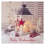 """Geschenkkarte """"Frohe Weihnachten"""" Laterne"""