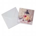 """Geschenkkarte mit Umschlag """"Frohe Weihnachten"""" Laterne"""
