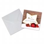 """Geschenkkarte mit Umschlag """"Frohe Weihnachten"""" Stern"""