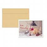 """5er Pack Klappkarten mit Umschlag Weihnachtskarte """"Laterne"""""""