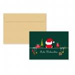 """5er Pack Klappkarten mit Umschlag Weihnachtskarte """"Weihnachtsmann"""""""