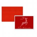 """5er Pack Klappkarten mit Umschlag Weihnachtskarte """"Rentier"""""""