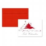 """5er Pack Klappkarten mit Umschlag Weihnachtskarte """"Tannenbaum"""""""