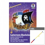 "Laternen-Bastelset ""Pirat"" inkl. LED Laternenstab ca. 50 cm"