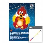 "Laternen-Bastelset ""Feuerdrache"" inkl. LED Laternenstab ca. 50 cm"