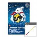 """Laternen-Bastelset """"Gespenst"""" inkl. LED Laternenstab ca. 50 cm"""