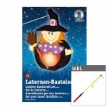 """Laternen-Bastelset """"Hexe"""" inkl. LED Laternenstab ca. 50 cm"""