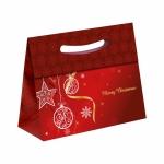 12er Pack Weihnachtstüte Geschenktüten Weihnachten Elegant klein Rot