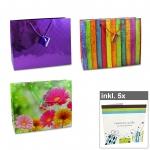 6er Set Geschenktüten-Shopper - Serie I inkl. 5er Pack Geschenkkarten