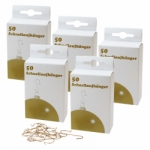 5er Set Schnellaufhänger gold für Weihnachtskugeln (5 x 50 Stück)