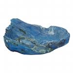 Wurzelholz Schale Rustika frosted blau ca. 30 x 30 x 9 cm