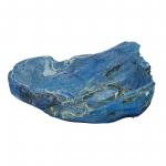 Wurzelholz Schale Rustika länglich frosted blau ca. 40 x 30 x 9 cm