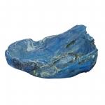 Wurzelholz Schale Rustika groß frosted blau ca. 40 x 40 x 12 cm