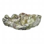 Wurzelholz Schale Rustika groß frosted oliv ca. 40 x 40 x 12 cm