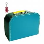 Kinderkoffer petrolblau inkl. 1 Reflektorbärchen